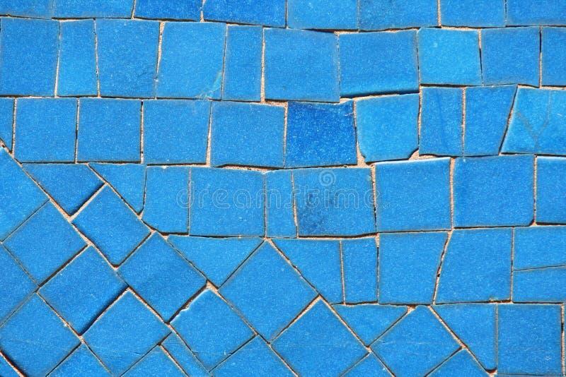 Blauw mozaïek royalty-vrije stock foto's