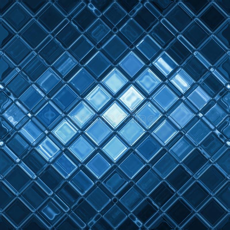 Blauw mozaïek vector illustratie