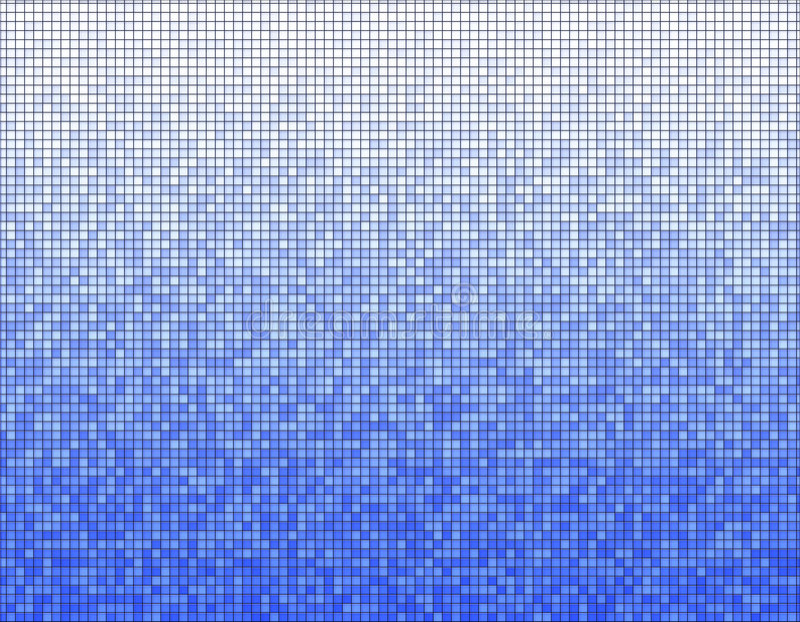 Blauw mozaïekpatroon vector illustratie