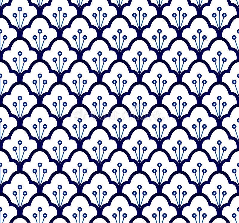 Blauw naadloos patroon royalty-vrije illustratie