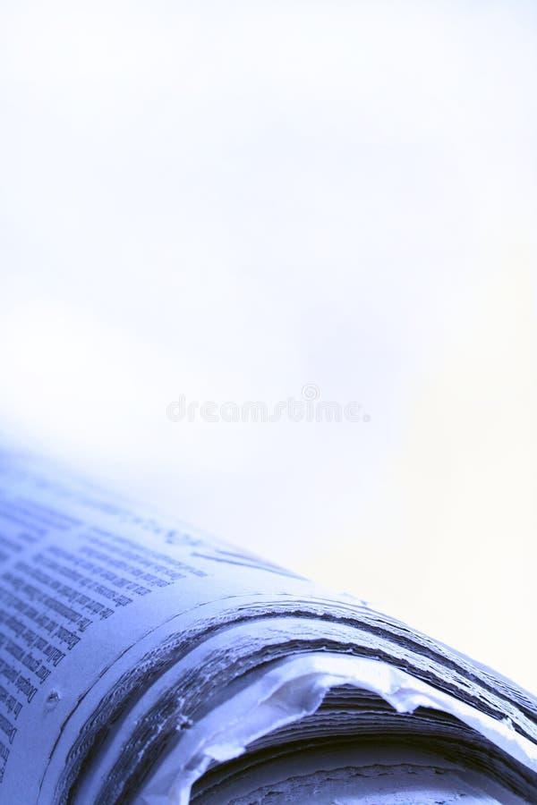 Blauw Nieuws royalty-vrije stock fotografie