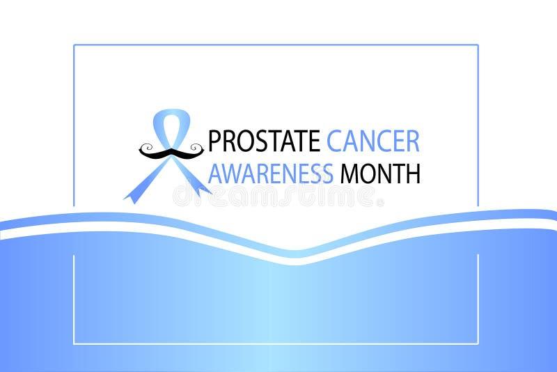 Blauw november, prostate affiche van de kanker awarenes maand stock illustratie