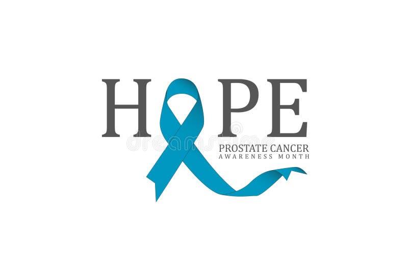 Blauw november, prostate affiche van de kanker awarenes maand royalty-vrije illustratie