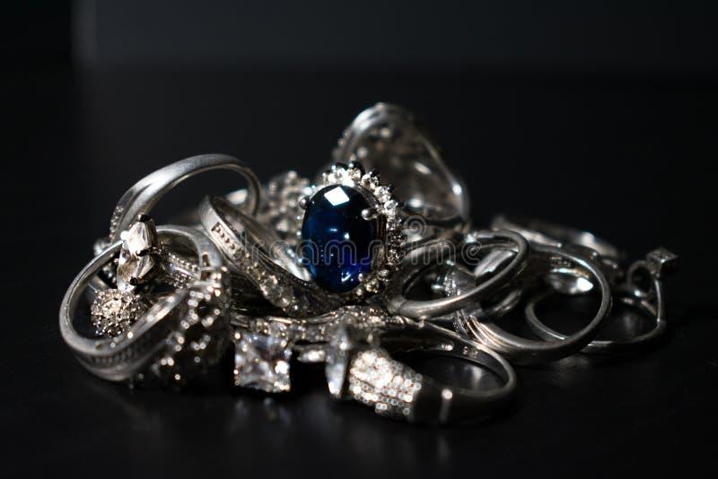 Blauw onder het Zilver stock foto's