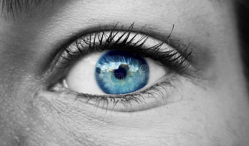 Blauw oog stock afbeeldingen