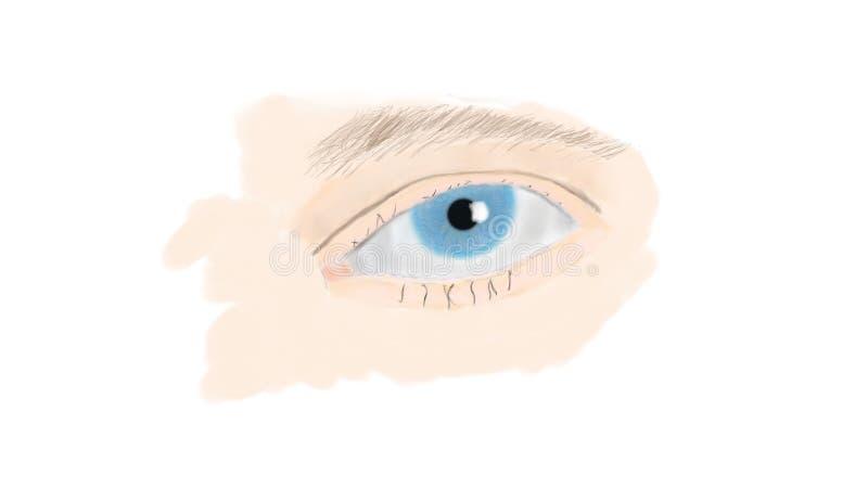 Blauw oog royalty-vrije stock fotografie