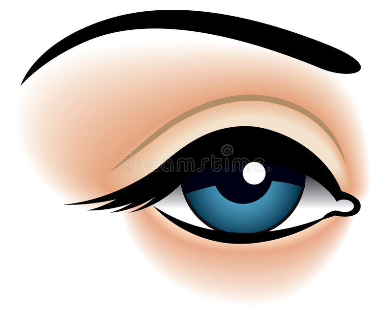 Blauw oog, close-up royalty-vrije illustratie