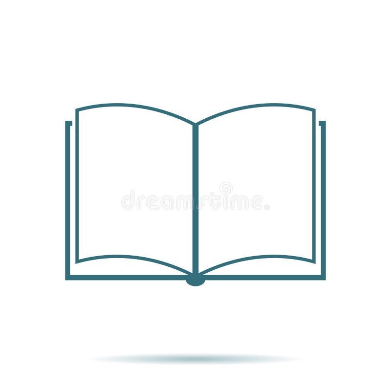 Blauw open die boekpictogram op achtergrond wordt geïsoleerd De moderne eenvoudige vlakte leert teken Zaken, Internet concep vector illustratie