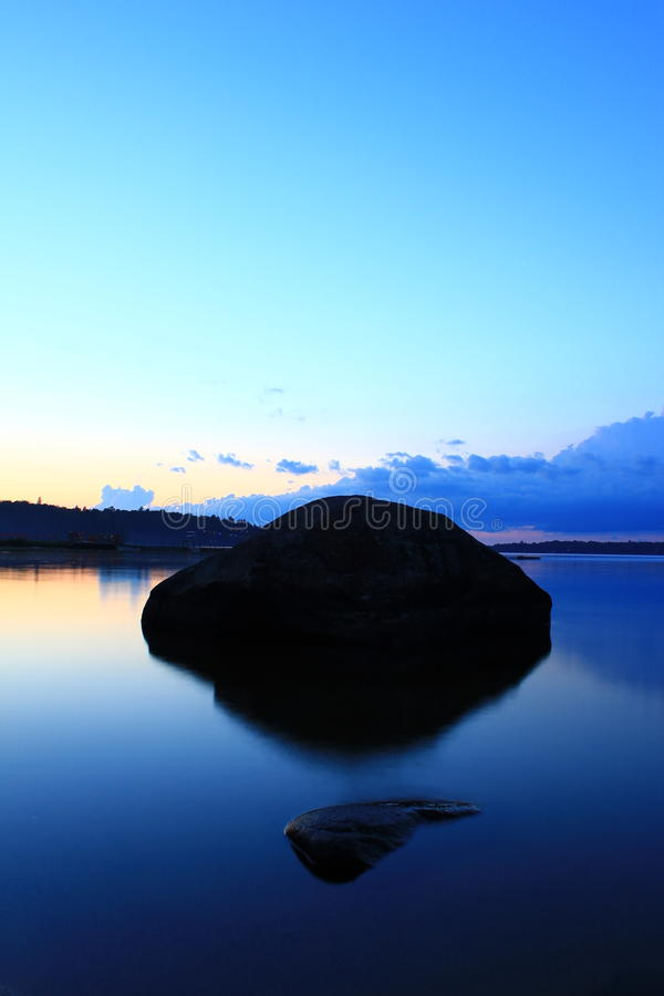 Blauw paradijsmeer stock afbeelding