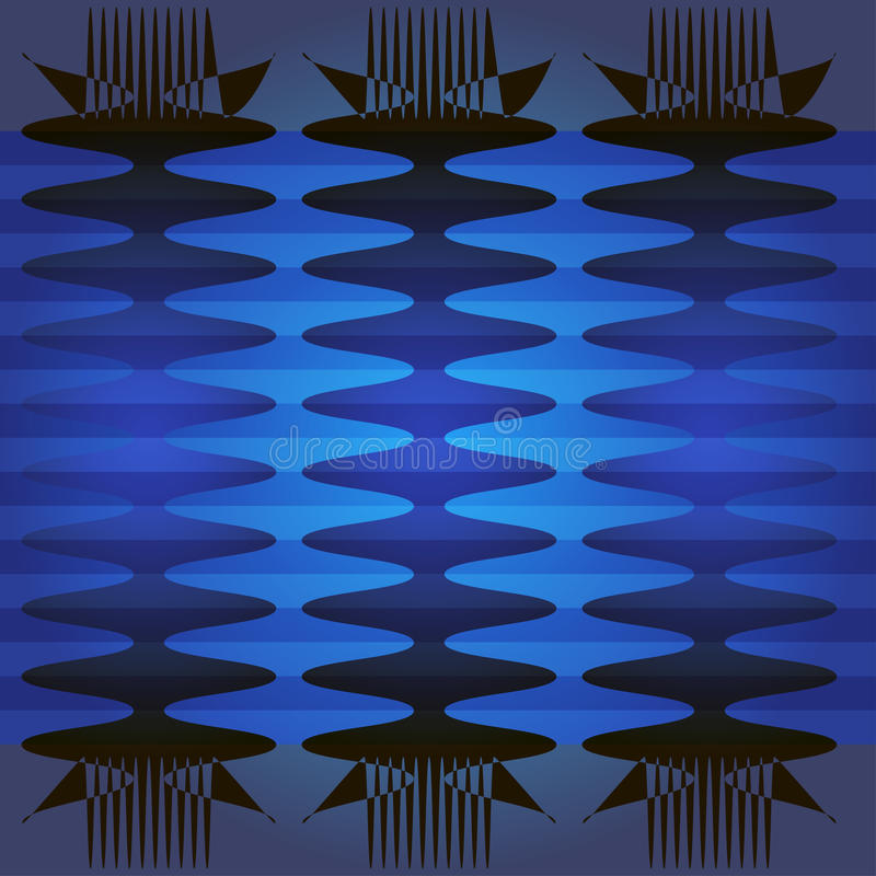 Blauw patroon stock foto