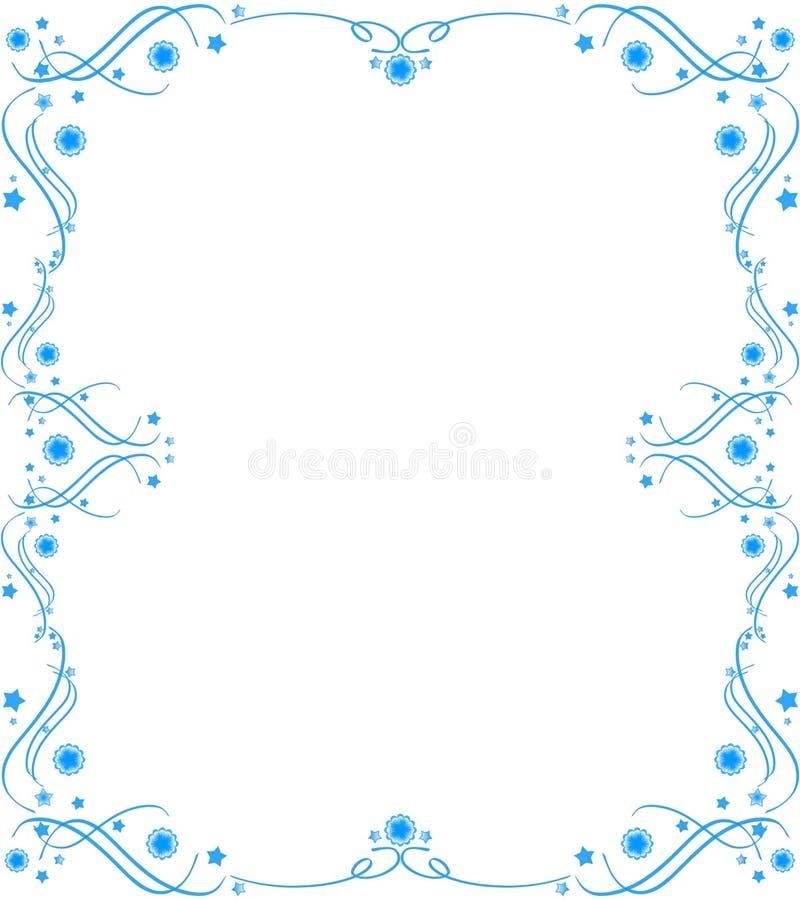 Blauw patroonframe royalty-vrije stock fotografie