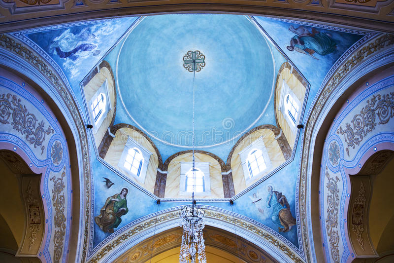 Blauw plafond royalty-vrije stock afbeelding