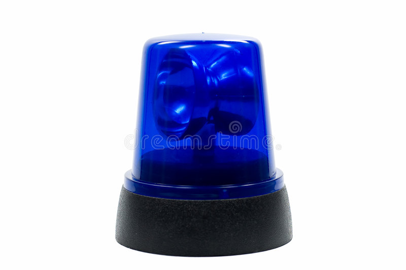 Blauw politielicht royalty-vrije stock fotografie