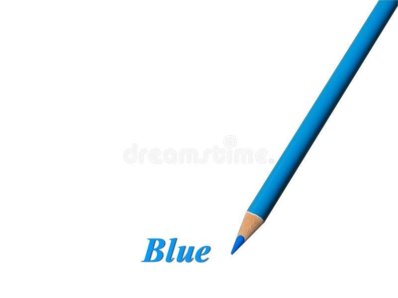 Blauw Potlood royalty-vrije stock afbeeldingen