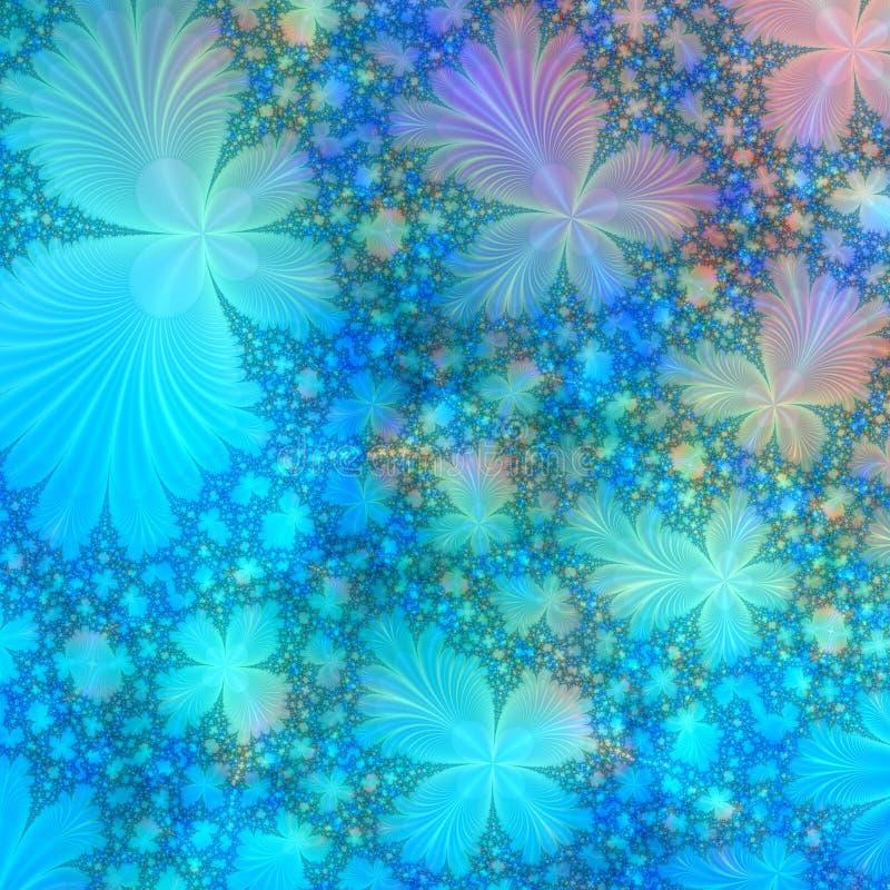Blauw, purper en gouden abstract achtergrondontwerpmalplaatje vector illustratie