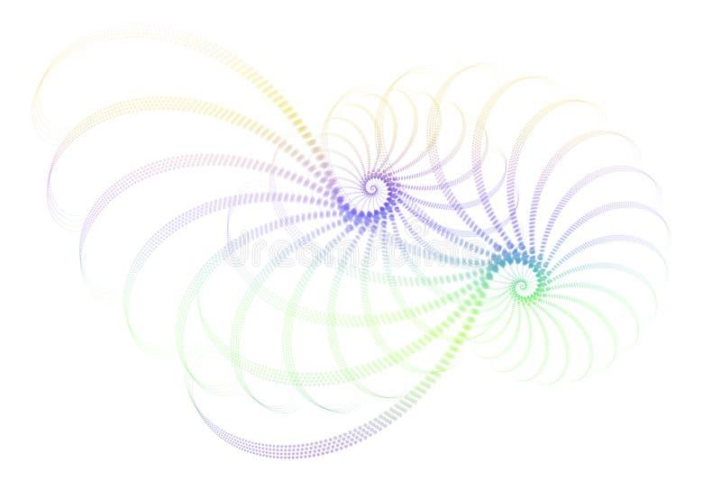 Blauw Purper Wit Fractal Abstract Ontwerp vector illustratie