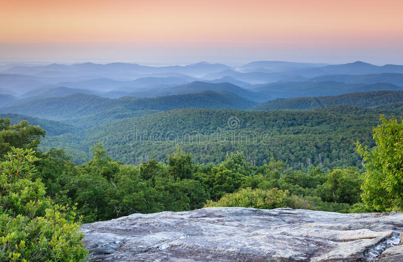 Blauw Ridge Appalachian Mountains Western North Carolina NC royalty-vrije stock foto's