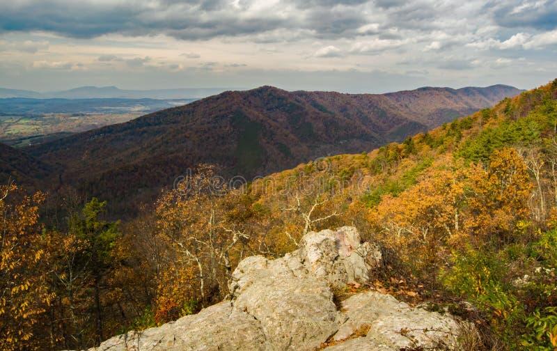 Blauw Ridge Mountains van Virginia, de V.S. royalty-vrije stock fotografie