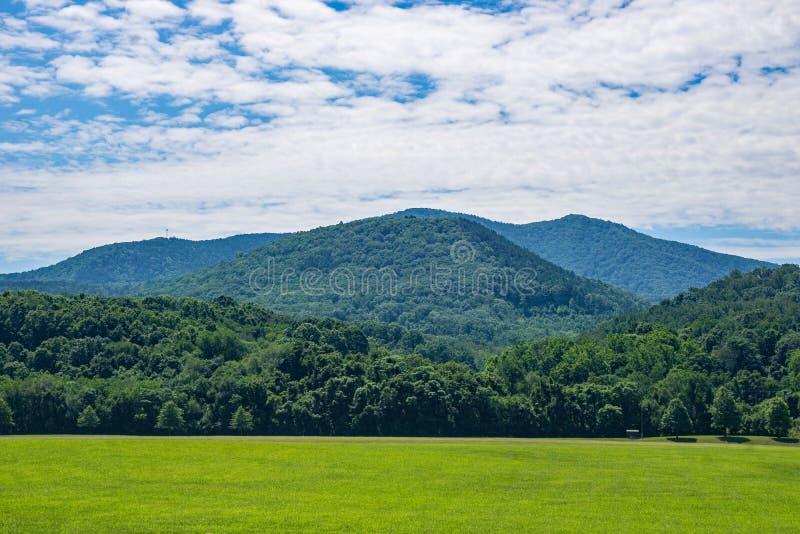 Blauw Ridge Mountains van Virginia, de V.S. stock foto's
