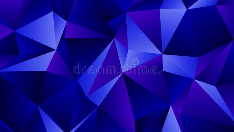 Blauw Sapphire Trendy Low Poly Backdrop-Ontwerp stock illustratie