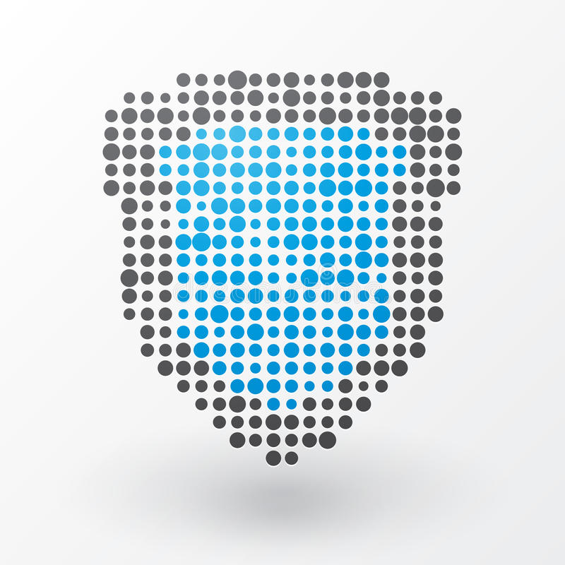 Blauw Schild royalty-vrije illustratie