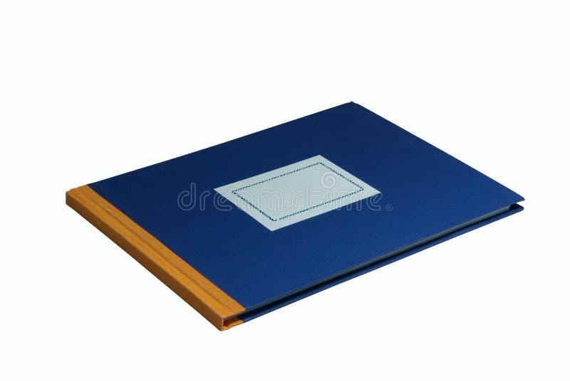 Blauw schoolhandboek royalty-vrije stock fotografie