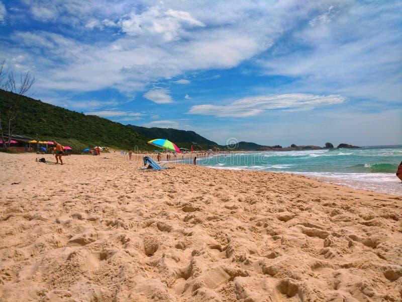 Blauw strand royalty-vrije stock afbeelding
