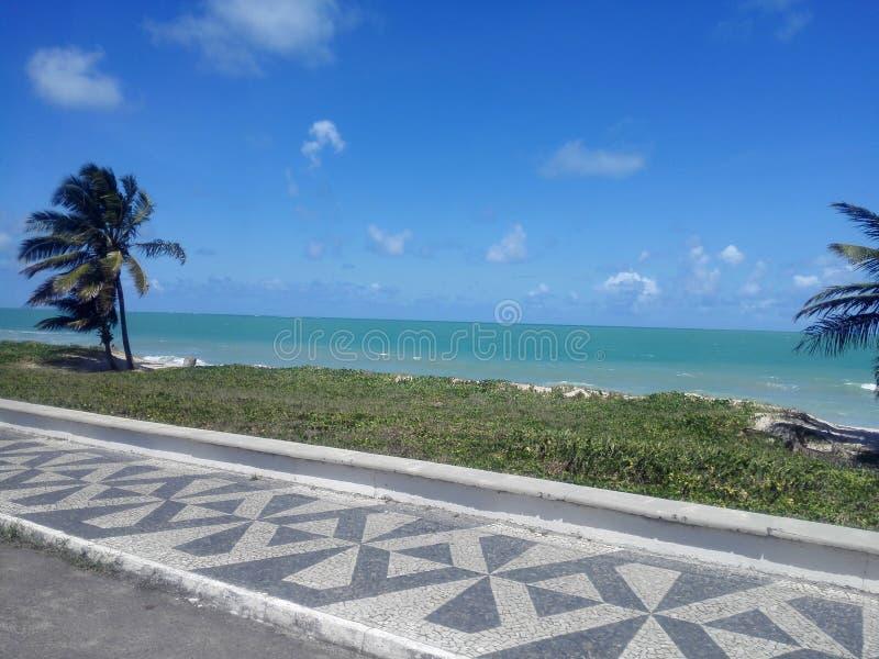 Blauw strand stock afbeeldingen