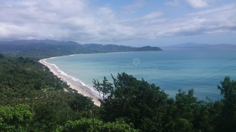 Blauw strand stock afbeelding