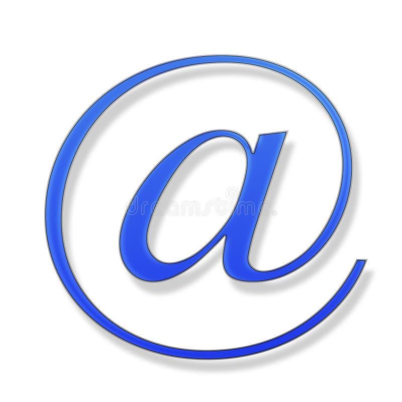 Blauw teken op een witte achtergrond vector illustratie