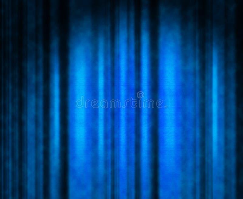 Blauw theatergordijn stock illustratie