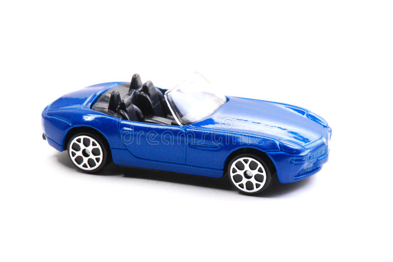 Blauw Toy Car stock foto