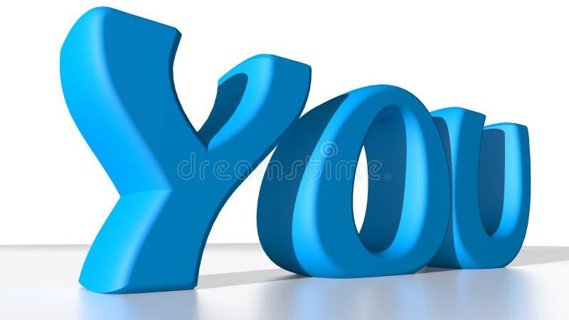 Blauw u stock illustratie