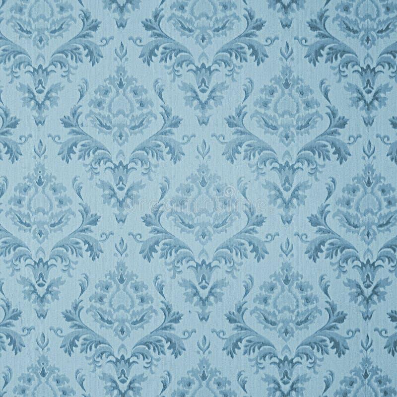 Blauw uitstekend behang stock illustratie