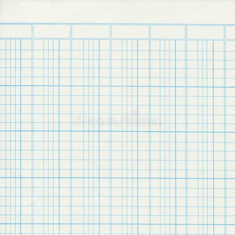 Blauw uitstekend grootboek of millimeterpapier stock afbeelding