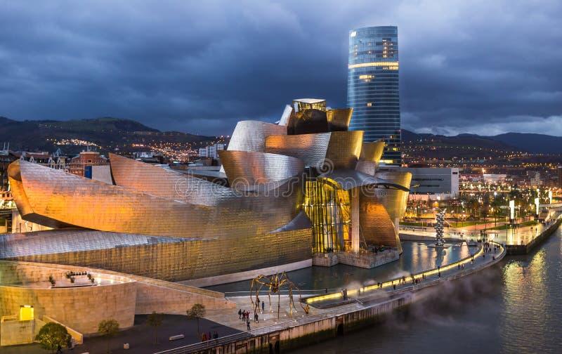 Blauw Uur Guggenheim royalty-vrije stock fotografie