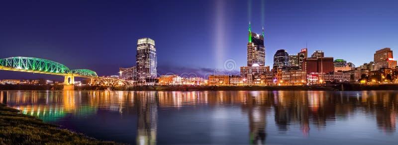 Blauw Uur in Nashville stock afbeelding