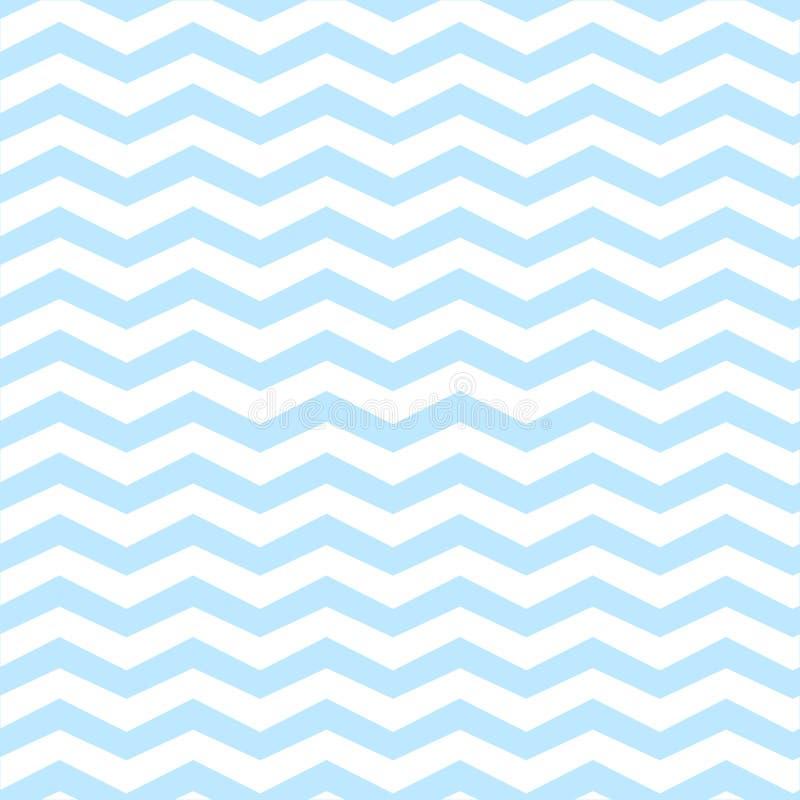 Blauw van het chevron het naadloze patroon stock afbeeldingen