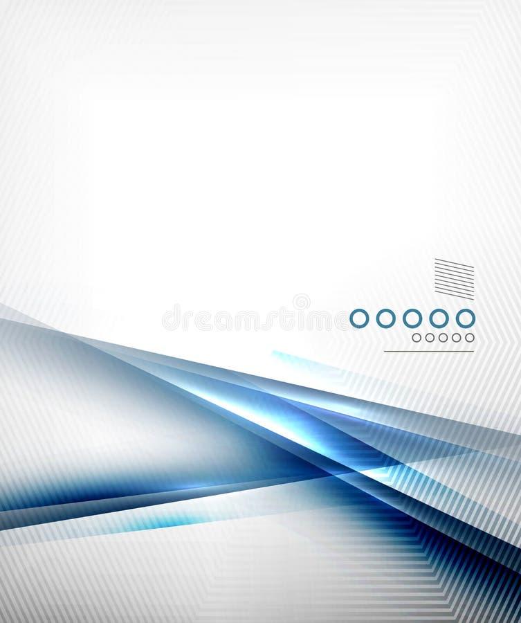 Blauw vector de lijnen van de bedrijfs onduidelijk beeldmotie malplaatje stock illustratie