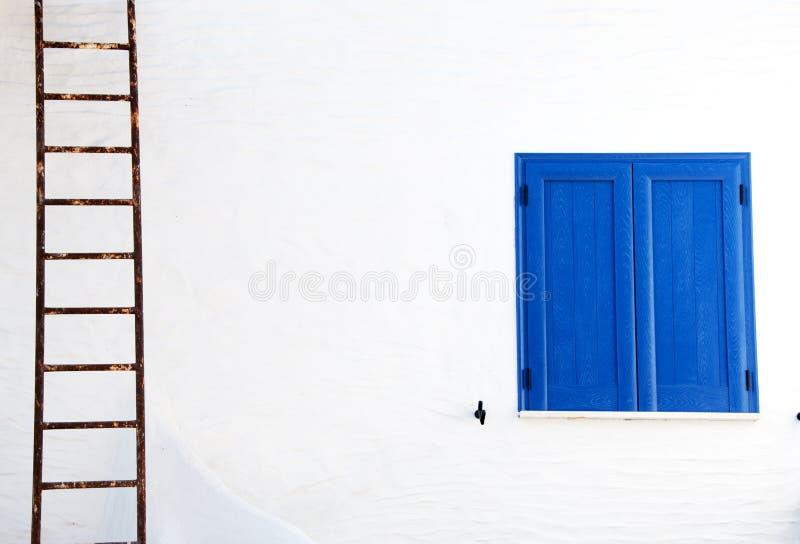 Blauw venster royalty-vrije stock afbeelding