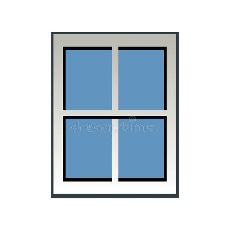 Blauw Venster vector illustratie