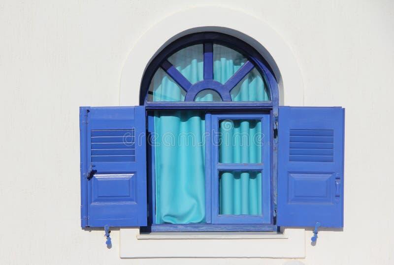 Blauw Venster stock fotografie