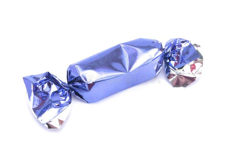 Blauw verpakt suikergoed royalty-vrije stock foto