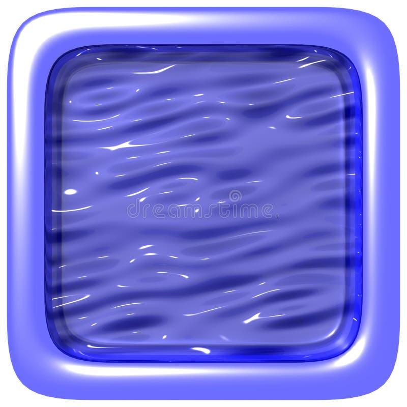 Blauw Vierkant Frame royalty-vrije stock afbeeldingen