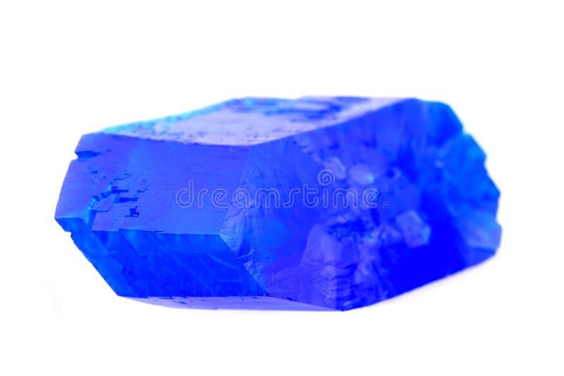 Blauw vitrioolmineraal stock afbeeldingen