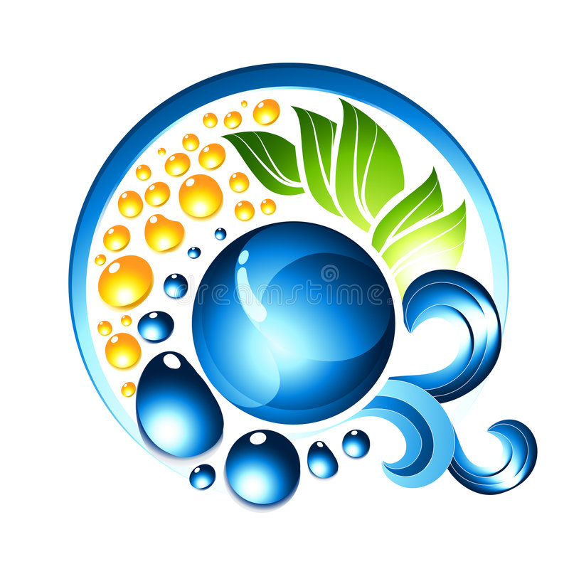 Blauw Vloeibaar Pictogram stock illustratie