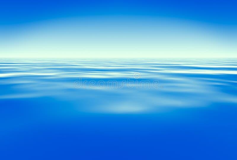 Blauw water vector illustratie