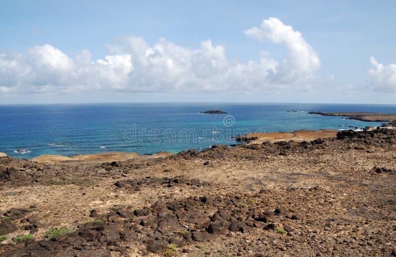 Blauw water rond Djeu royalty-vrije stock afbeeldingen