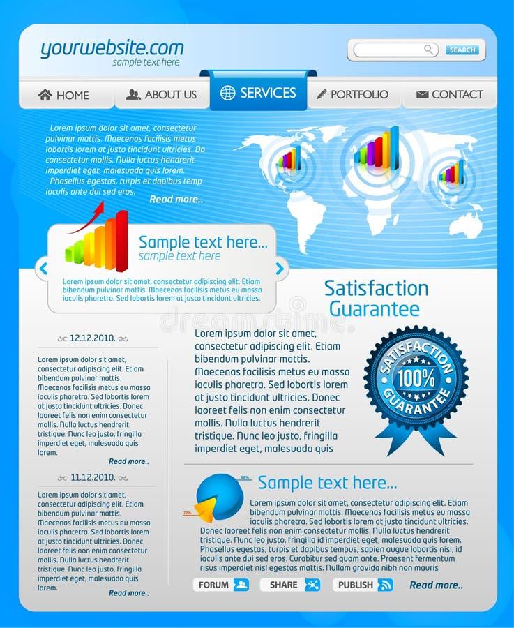 Blauw websitemalplaatje 2 royalty-vrije illustratie
