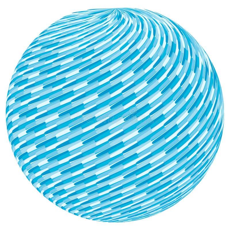 Blauw wervelingspatroon op gebied stock illustratie